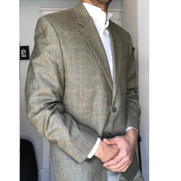 760283bc04 Ralph Lauren Silk Wool Glen Plaid Sport Coat